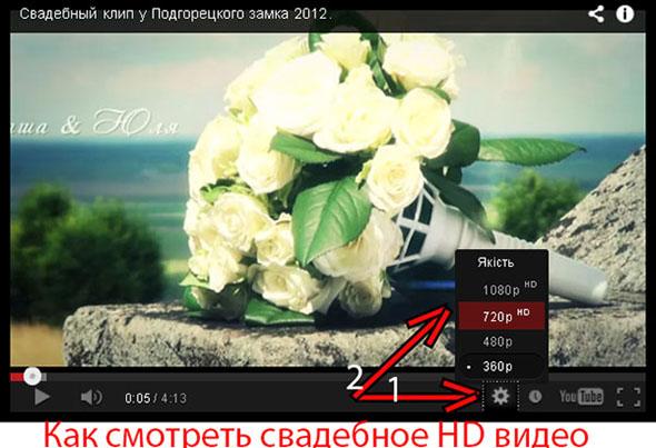 Як дивитися весільне відео в розширенні HD