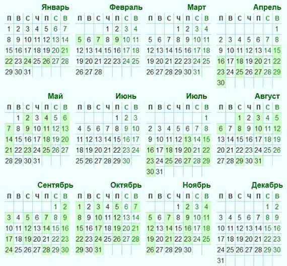 Вінчальний календар 2018