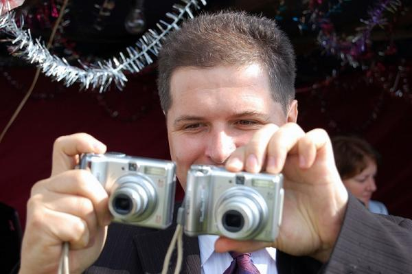 відеооператор початківець на весілля